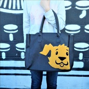Dog - Large Black Tote Bag 🐶